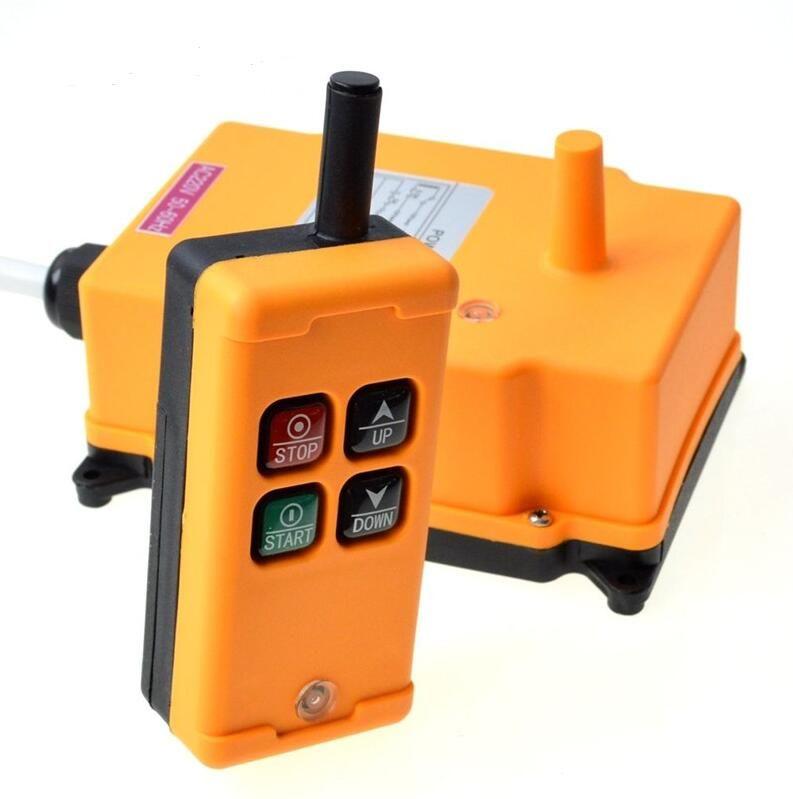 Бесплатная доставка 1 передатчик 4 каналов 1 контроль скорости подъемного промышленные беспроводные крана Радио система дистанционного управления OBOHOS