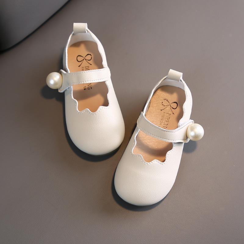 Niñas sandalias para niños Zapatos de los bebés de la princesa Zapatos Casual perla sandalias antideslizantes de la manera del bowknot niños pequeños niños