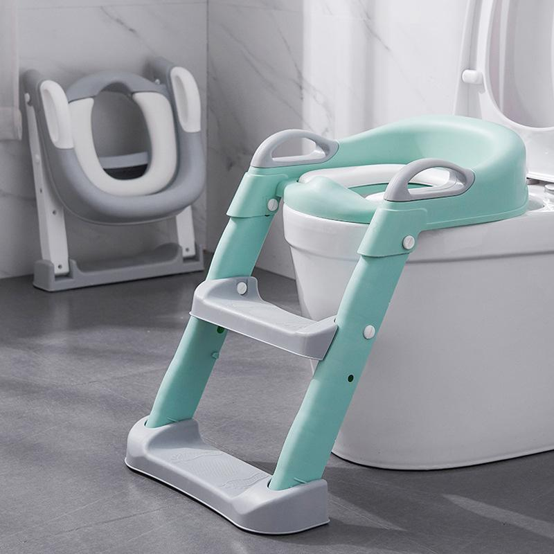 Folding Infant Potty Seat Urinal Backrest Training Chair with Step Stool Ladder for Baby Toddlers Boys Girls Safe Toilet Potties CX200605