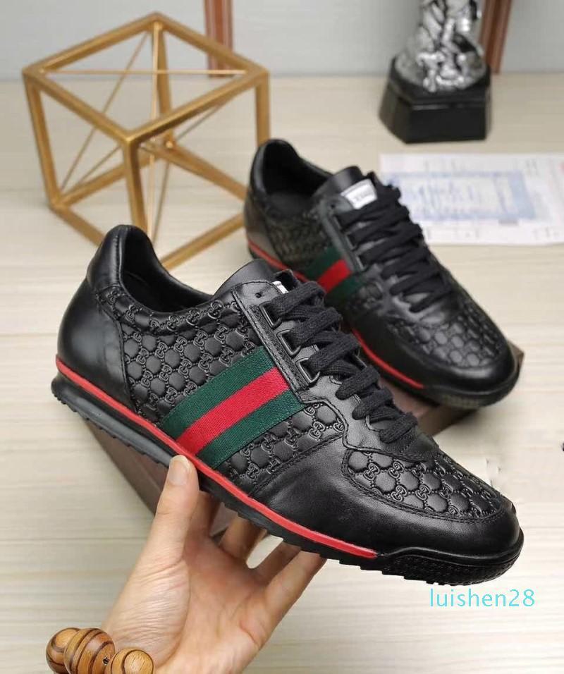 2018 nueva llegada para hombre zapatos casuales de los hombres superiores de calidad zapatillas de deporte zapatos de lujo de los hombres de la moda de piel de oveja plantilla model2 L28