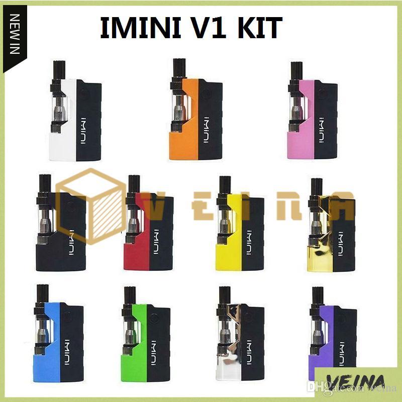 Original Imini Óleo Grosso Kit Embutido 500 mAh Bateria Mod 510 Tópico 0.5 ml 1.0 ml Liberty V1 Tanque Cartucho Vaporizador E Kits de Cigarro