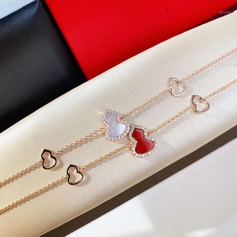 Gioielli zucca Bracciale Donne Wedding gioielli in oro 18 carati placcato Lunghezza della catena sterling 16 + 1,5 + 1.5cm1