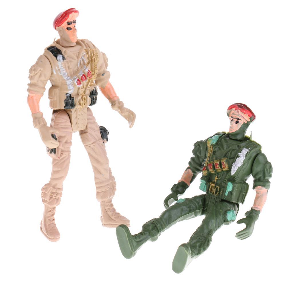 9cm plastique action spéciale Figure Armée Toy Soldiers - Paquet de 20