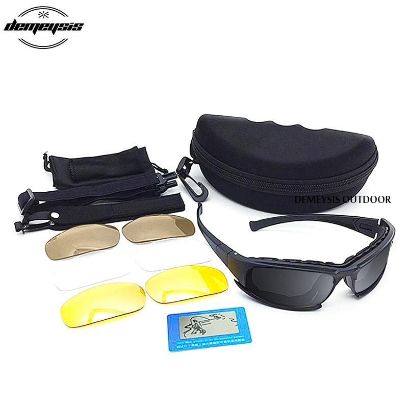 Polarisierte Sonnenbrille Wandern Tarnung Tacticcal Brille Airsoft Schießen Brille Fischen Brillen Oculos De Sol Masculino MX200619