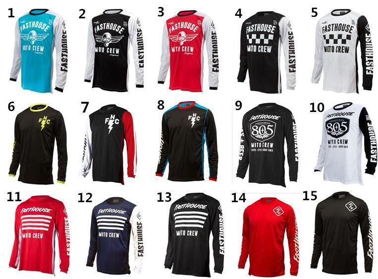 YAMAHA HONDA وغيرها من الملابس الملابس انحدار TLD ركوب الدراجة قمم مختلفة بأكمام طويلة على الطرق الوعرة قميص دراجة نارية سباق تي شيرت customi