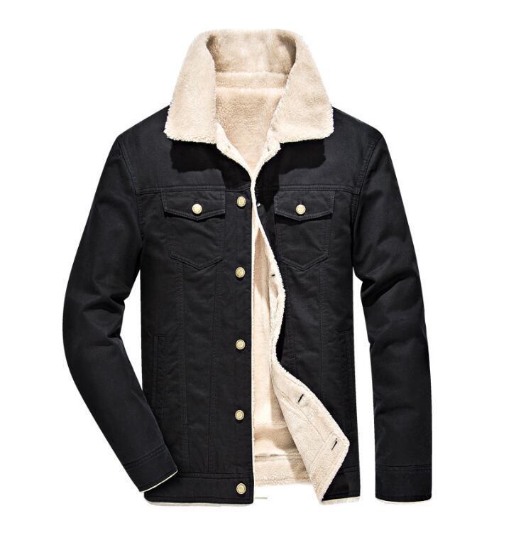 Cotone invernale bavero della giacca uomini giacca di più velluto vestiti di cotone imbottito rivestimento della tuta sportiva