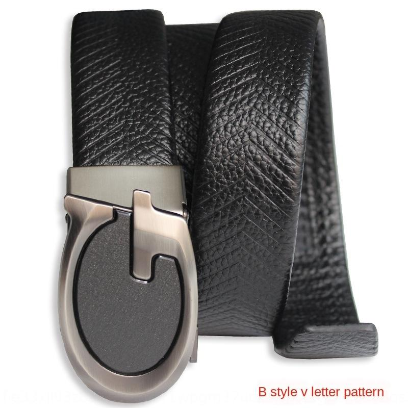 The whole leather Sausage bag edge men's top layer cowhide pig sausage belt multiple lines embossed belt Guangzhou