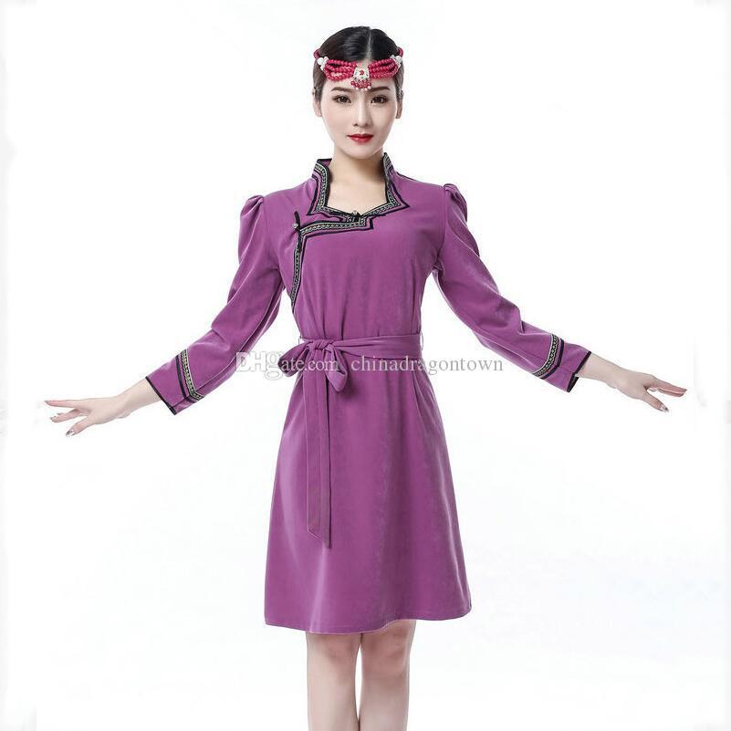 Mongolie femmes vêtements ethniques nationale robe vivante Grassland costume vintage élégante robe de mode costume tang asiatique