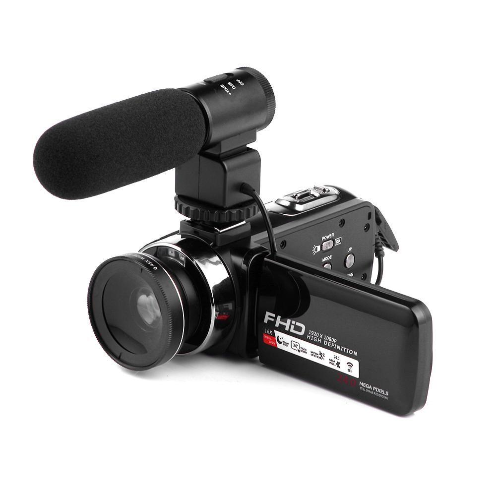 "HD 1080P Videocamera digitale 3.0 3.0 ""HD Touch Screen 16 Zoom con luce a infrarossi IR Spedizione gratuita tramite E-packect"
