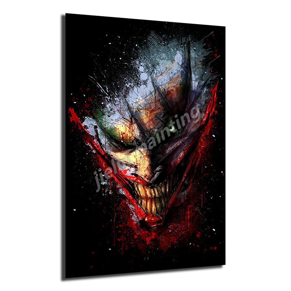 Joker Batman о фильме Картины и печать декоративного настенного Art Pictures Для Living Room Домашнего украшения