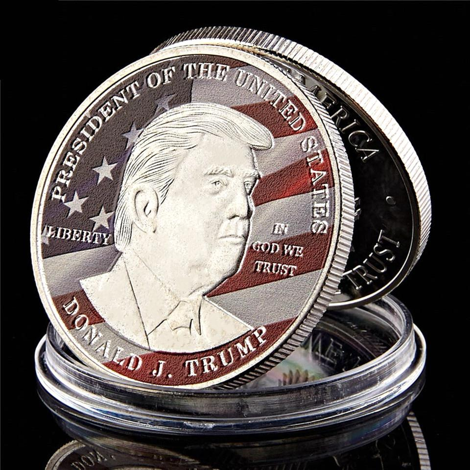 US 45th President Donald Trump America Make Great Commander Again 1oz Silver Plated Challenge Coin