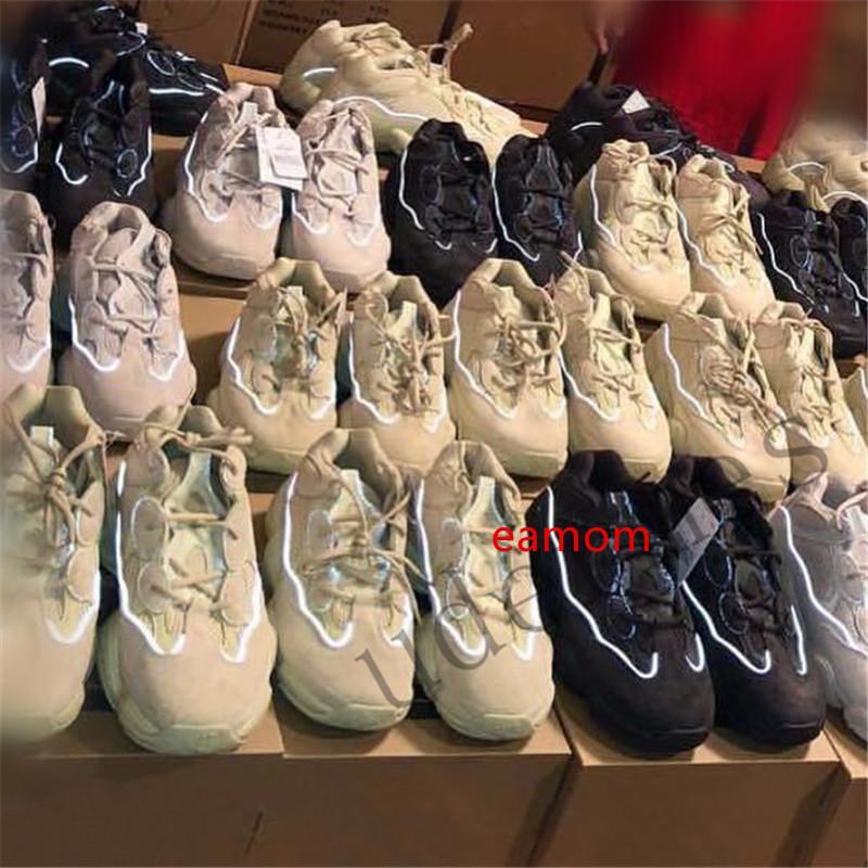 2019 og iyi Kalite 500 statik 3M malzeme Allık süper ay sarı yarar siyah çöl faresi Dalga Runner Erkekler ayakkabılar kadınlar spor ayakkabıları ile