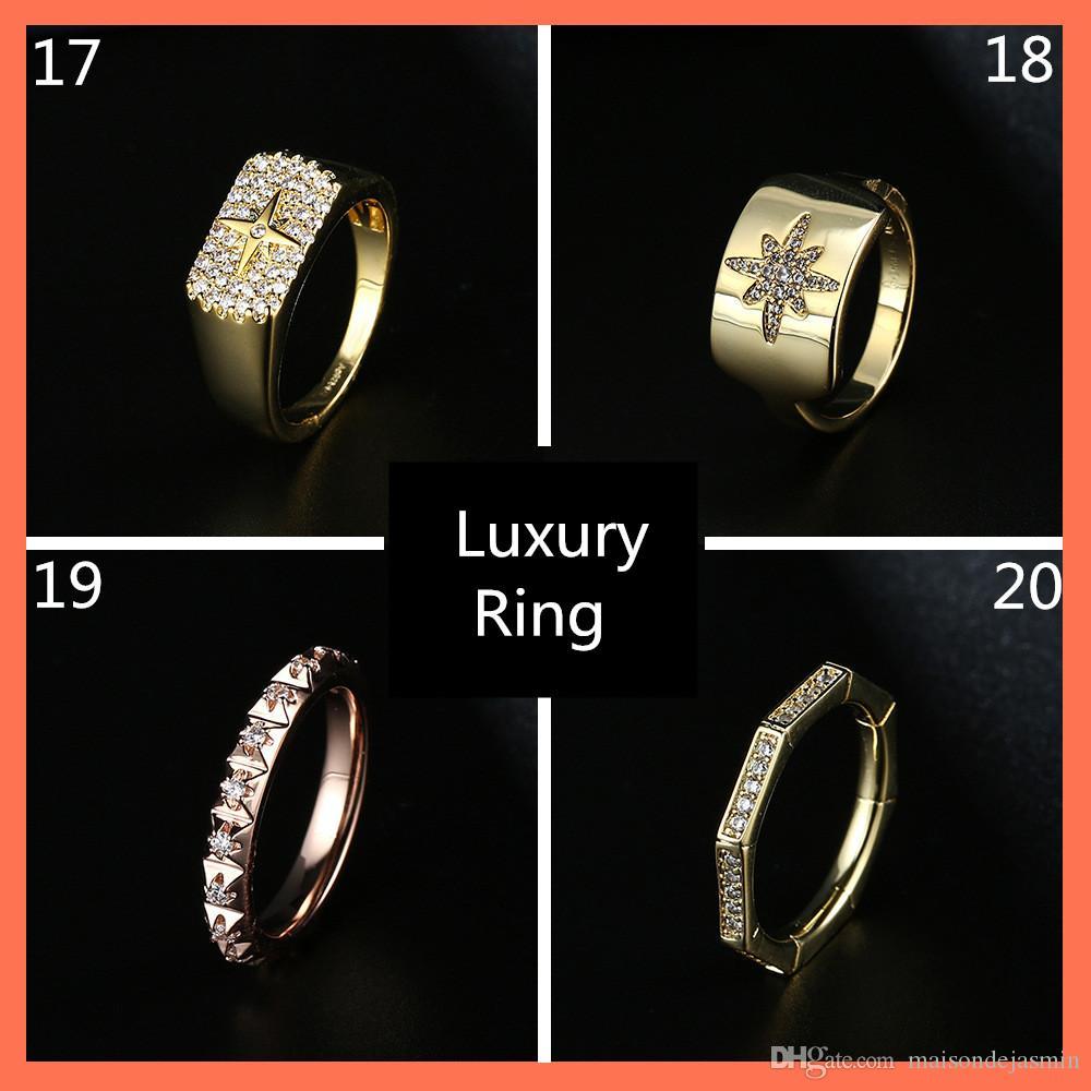 Freeshipping anelli di lusso gioielli A-regalo progettista pm per l'anello delle donne CZ gioielli signora anelli istruzione femminile