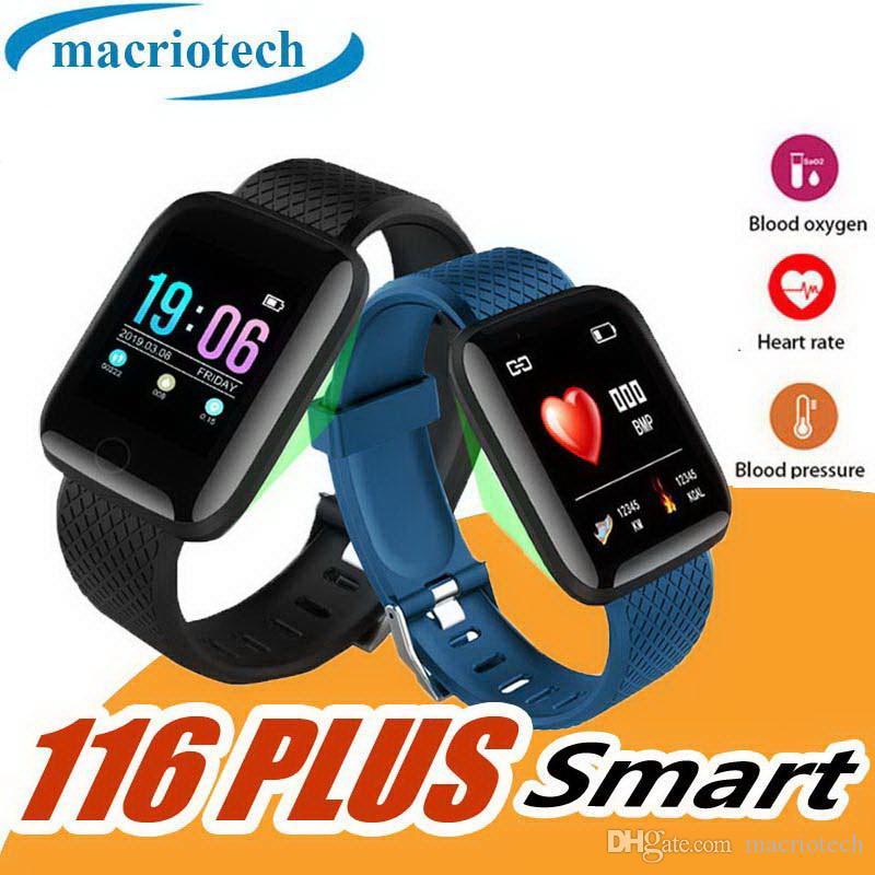 116 PLUS Montre Smart Watch 1,3 pouce TFT montre de luxe Sport Bracelet Bluetooth Étanche Fréquence cardiaque Tension artérielle Étape Message Push
