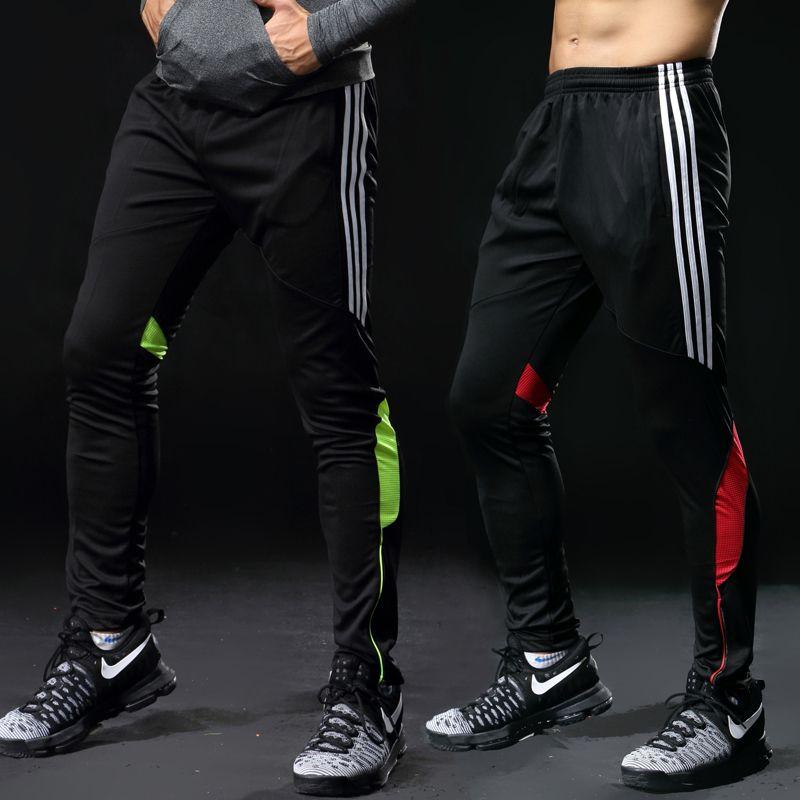 Inverno calcio Slim Jersey Sport Jogging professionale da calcio per allenamento in esecuzione Tuta Pantaloni Leg Pants T200326