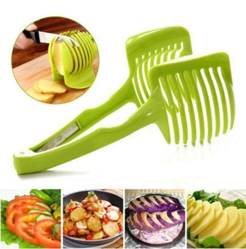 Plastic Potato Slicer Tomato Cutter Shreadders Silcers Vegetable Fruit Lemon Cutter Holder Cooking Tools Kitchen Accessories