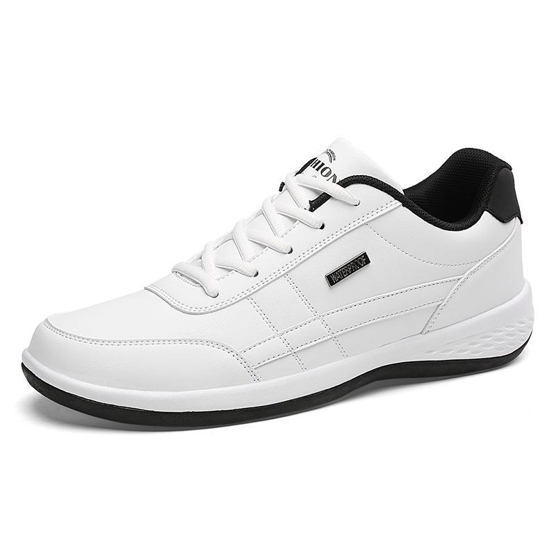 NAUSK manera de los hombres zapatillas de deporte de hombres Zapatos casuales para hombre Hasta respirable con cordones de los zapatos ocasionales de los zapatos de cuero de los hombres de primavera Chaussure Homme