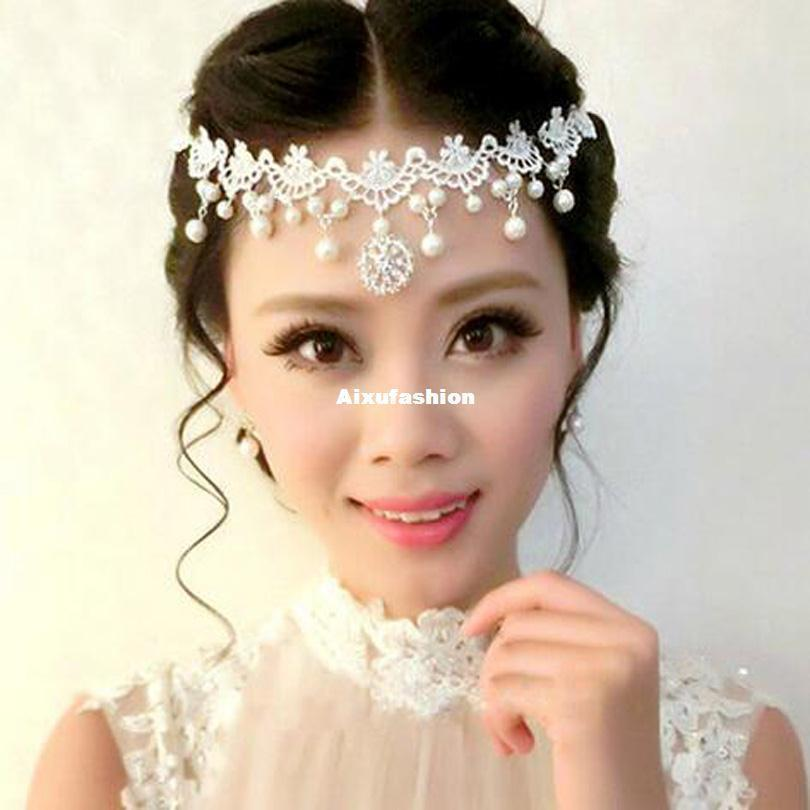 Boho Women Head Chain Wedding Diamond Drop Headpiece Headband Headwear Gift US