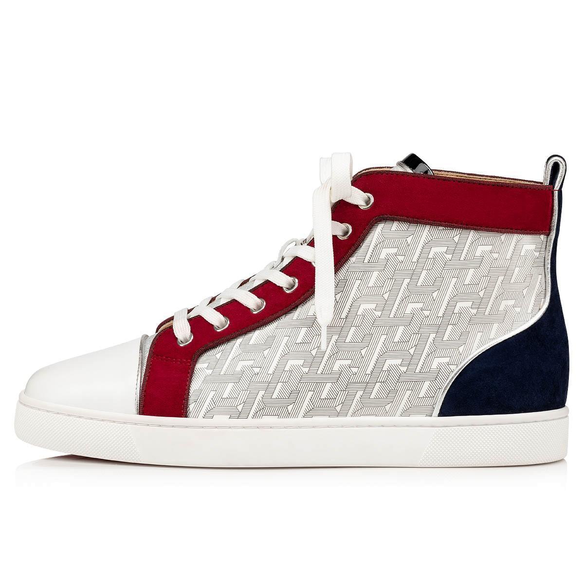 Nuova qualità degli uomini scarpe basse Red Bottoms Sneaker Rantus Orlato Man piatto Graffiti Vera pelle rossa Sole progettista di trasporto libero all'ingrosso