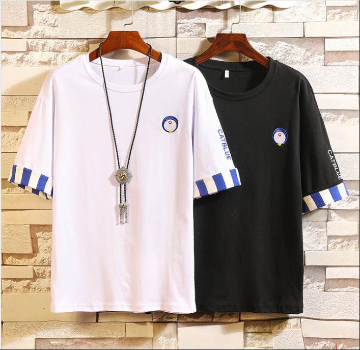 De luxe Carton Style Hommes T-shirts Marque De Mode Broderie Tops Hommes Designer À Manches Courtes Hommes Chemises M-4XL ZY-TT1103