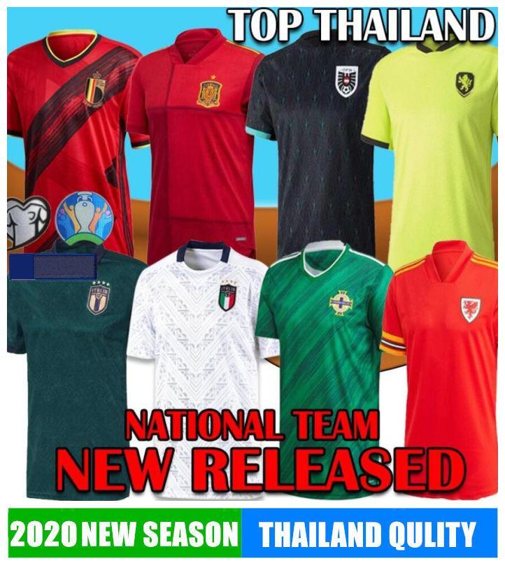 2020 EURO Northern Ireland Scotland Switzerland Wales Soccer Jersey Austria Muller Hungary Italy Sweden Belgium Spain Russia Czech footbaLL