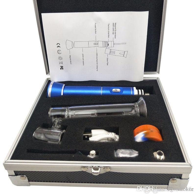vaporiseur dab plate-forme pétrolière électronique portatif de vapeur 510nail henail avec dab titane céramique dnail enail de vapeur de cire pour les concentrés de cire