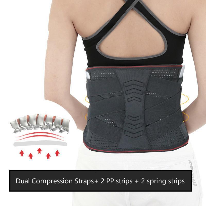 Gym soutien de taille Trimmer Ceinture lombaire Back Pain Relief Ceintures orthopédique Spine Brace Respirant double sangle réglable Faja lombaire