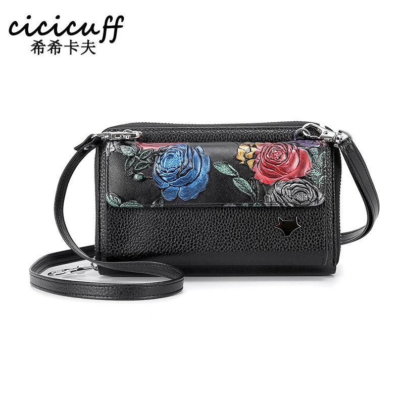 CrossBody Shoulder Bag Day Clutch Purse for Women Leather Wristlet Handbag