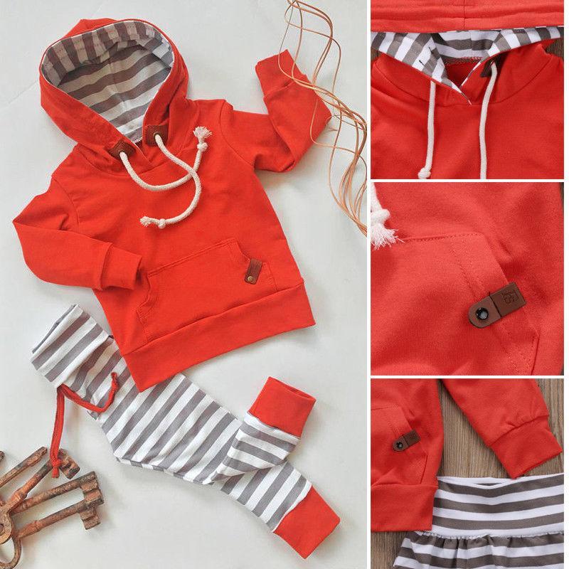 Boy Set 0-24M 2ST Neugeborene Kinder Baby Tops Hoodie T-Shirt + Kurzschluss-Hosen-Outfit Kleidung Set