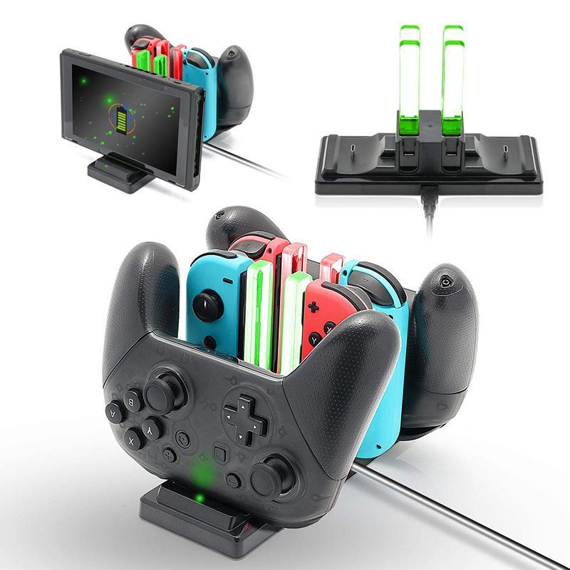Şarj dock için Nintend Anahtarı Joy-con Kontrolör LED C Tipi Şarj için Nintendo Pro Gamepad Şarj NS Anahtarı Standı Anahtar