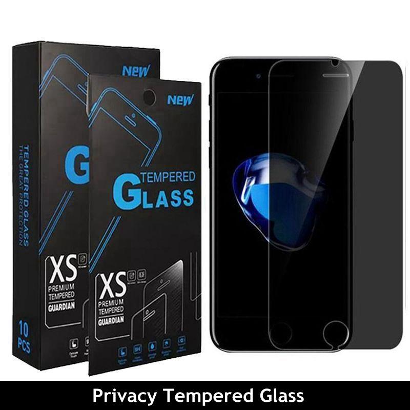 iPhone 9H Gizlilik Temperli Anti-Spy Ekran için Koruyucu iPhone 12 11 Pro Max XR X XS Max 6S 7 8 Artı Gerçek 45 ° Parlamaz için