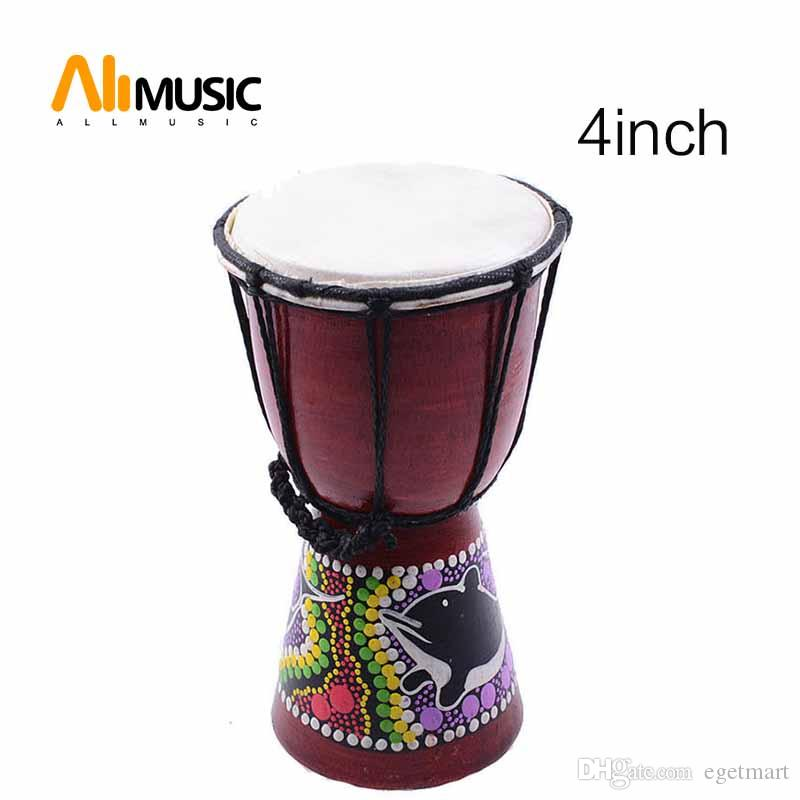 African Djembe 4 Inch Percussion Hand Drum For Sale, Wooden Jambe/ Doumbek Drummer
