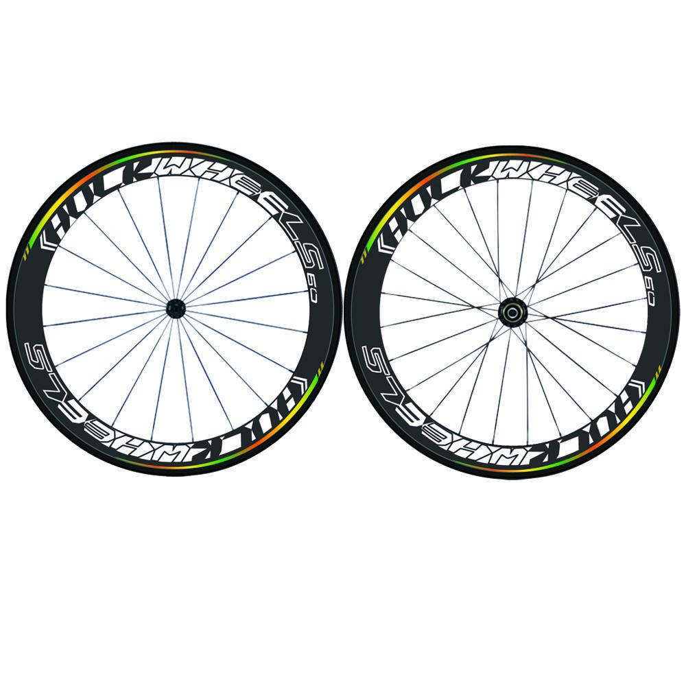 Vendas da fábrica 700C Carbono Wheelset Tubular 50mm 88mm Rodas De Bicicleta de Carbono Clincher Road Bike Rodas de Basalto de Travagem