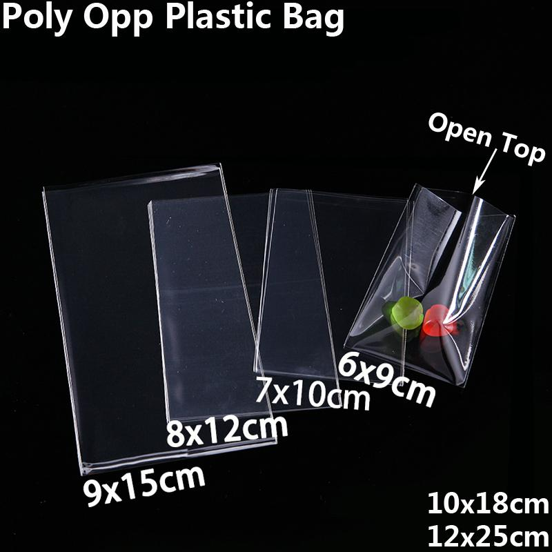 Ясные открытые верхние полиэтиленовые пакеты для печенья конфеты игрушки ювелирных изделий упаковывая мешок Рождество День Рождения DIY мешок Поли OPP подарочный мешок