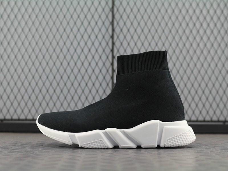 zapatos baratos París Speed Trainer estiramiento de punto medio casuales para mujer para hombre Triple Negro Blanco Oreo zapatos del diseñador de moda des Chaussures