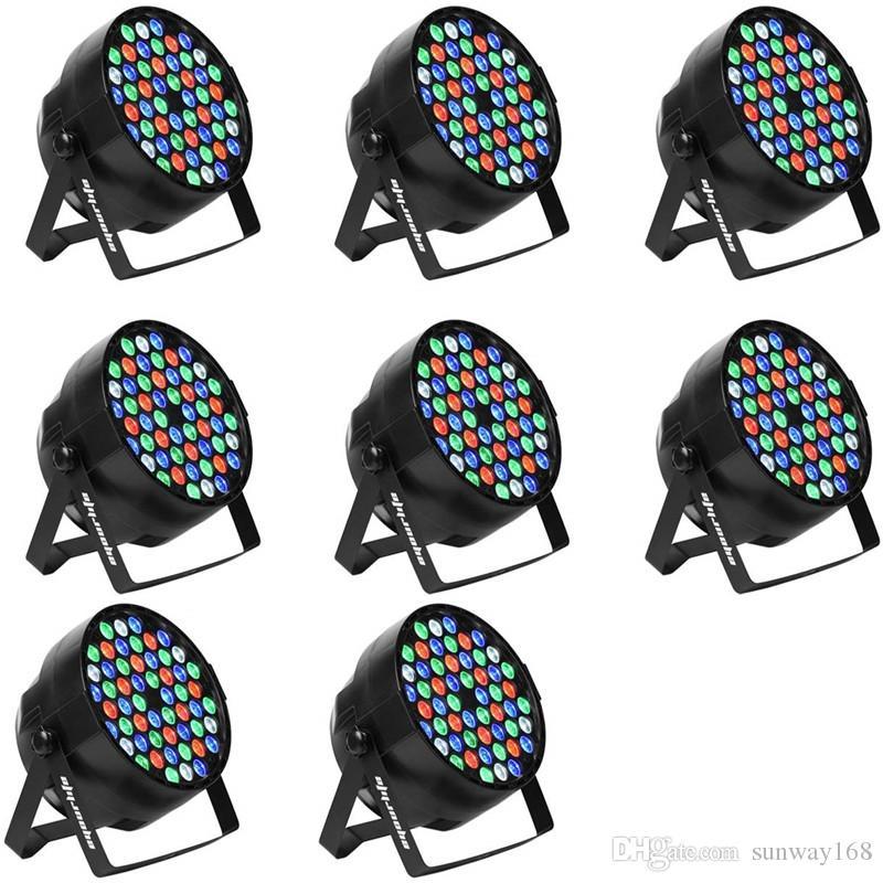 بيع جديد 54x3w مقاوم للماء في الهواء الطلق RGBW LED أضواء الاسمية IP65 DMX512 Profeesioal المرحلة ديسكو DJ المعدات
