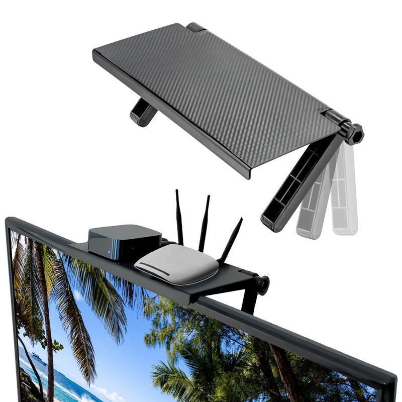 Écran réglable Top Shelf Affichage tablette Écran d'ordinateur de bureau Riser TV par rack bureau stockage