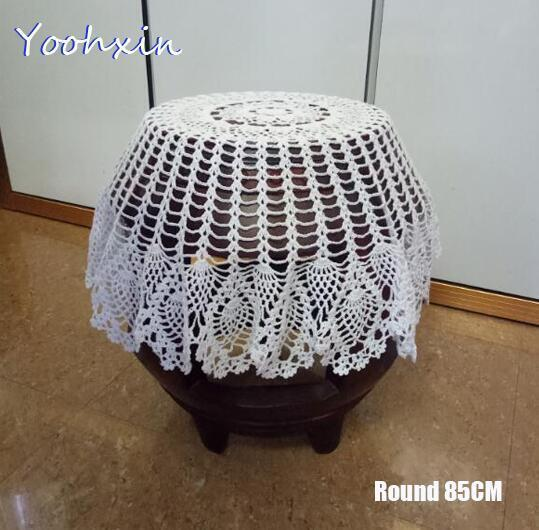 Large Round Table Cloth.Novel Vintage White Lace Cotton Crochet Tablecloth Table Cloth Towel Round Handmade Cover Home Party Christmas Wedding Decor Large Round Tablecloths