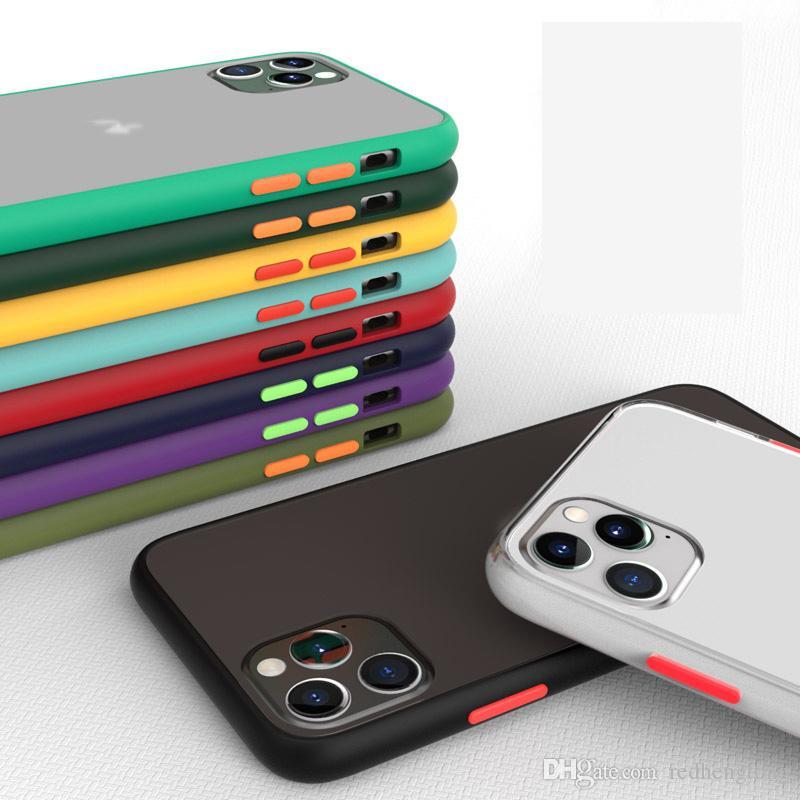 Luxus Stoß- Fall für iPhone 12 11 Pro Max-Matt Telefon-Abdeckung für iPhone XS XR XS MAX 7 8 Plus-Fall