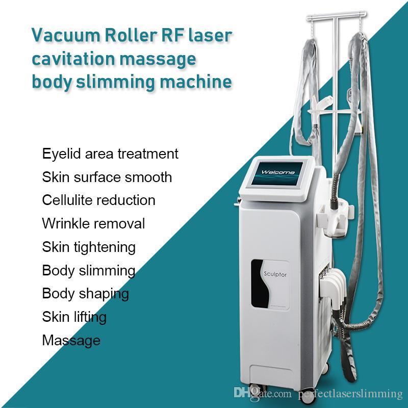 Cavitação de ultra-som da forma do corpo multifuncional + 940nm laser quase infravermelho + bipolar RF + rolos lashape corpo moldando equipamentos de emagrecimento ce