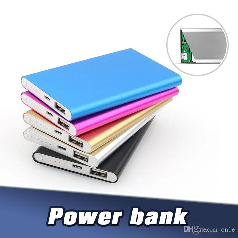 Ultra slim powerbank 8000mah power bank Portable Slim Charger External Battery For All Phones Tablet PC External Cattery With Retail Pack