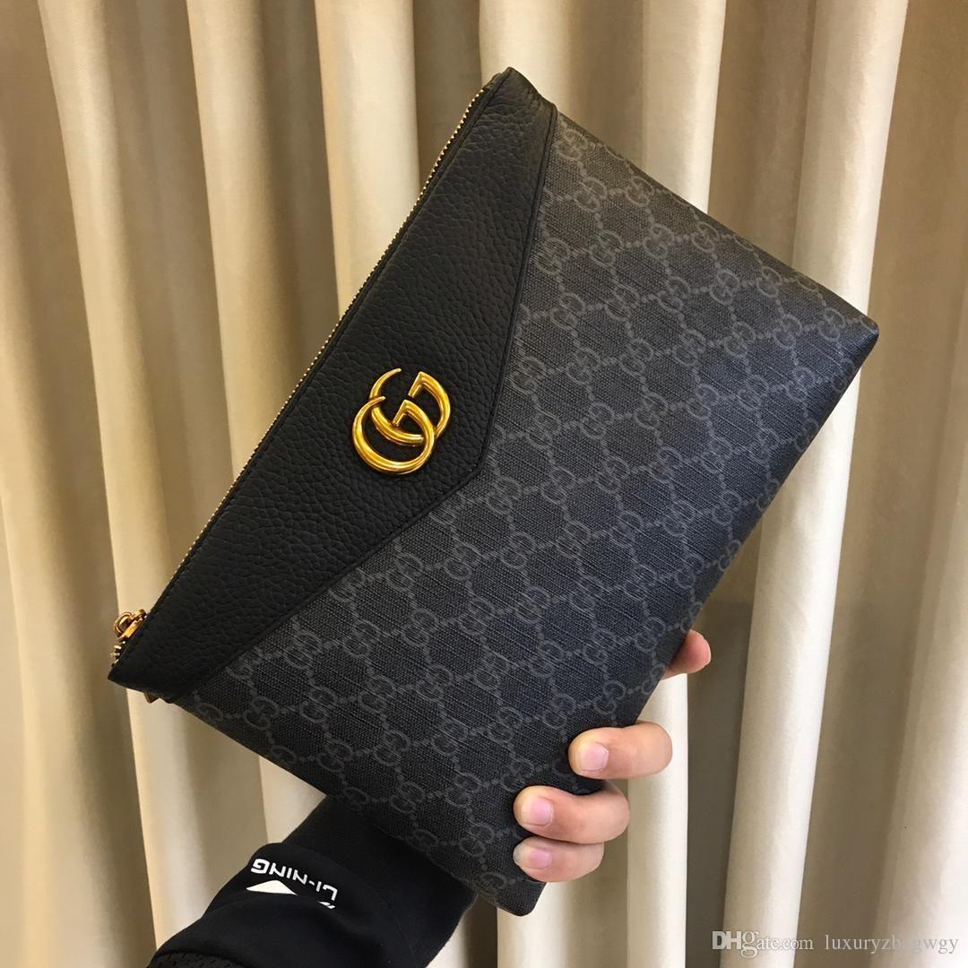 2019 9317 رجل جديد إمرأة حقيبة يد محفظة سلسلة WALLETS PURSEWomen حقيبة الكتف مستحضرات تجميل البسيطة حقيبة الأكمام الغريبة 29CM
