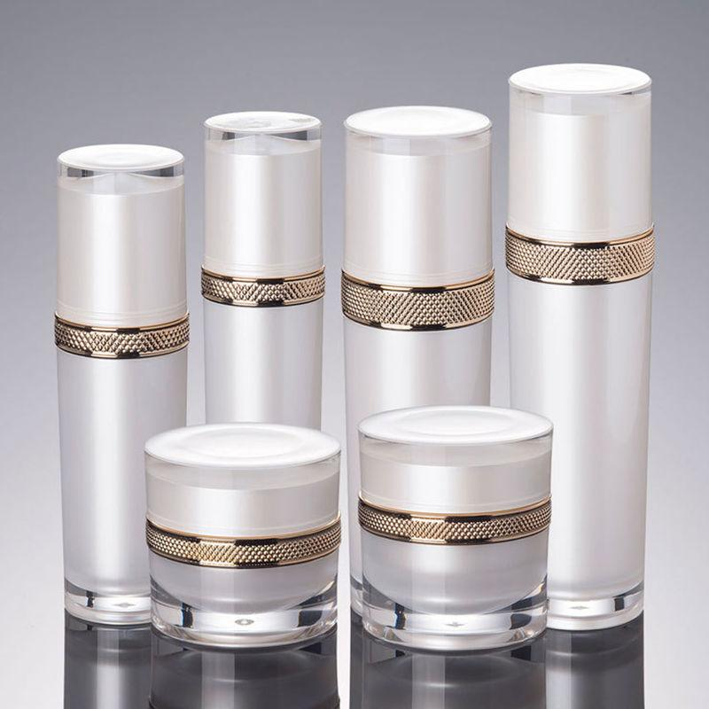 300pcs/lot 30g 50g Cosmetic Container Cube Acrylic Jar White Cream Pot Makeup Sample Jars empty beauty cream container