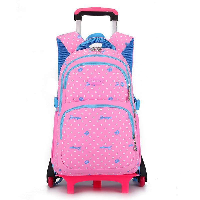 2019 Waterproof Trolley School backpacks Girls Children School Bags Wheels Travel Bags Luggage Backpacks Kids Rolling Schoolbags
