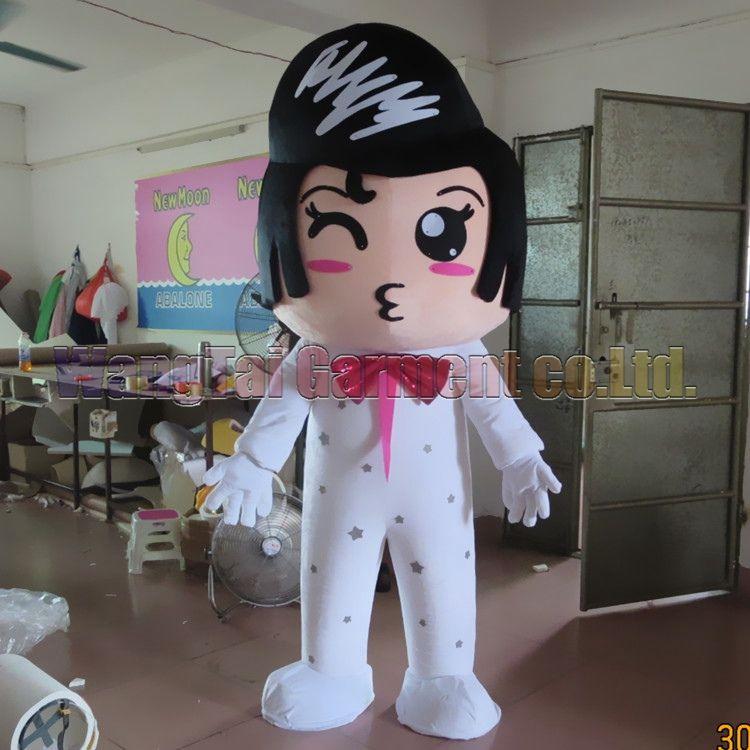 New Gentleman fantasia de mascote de alto grau de caracteres de luxo desenhos animados trajes homem moderno mascote traje fantasia vestido de festa de carnaval frete grátis