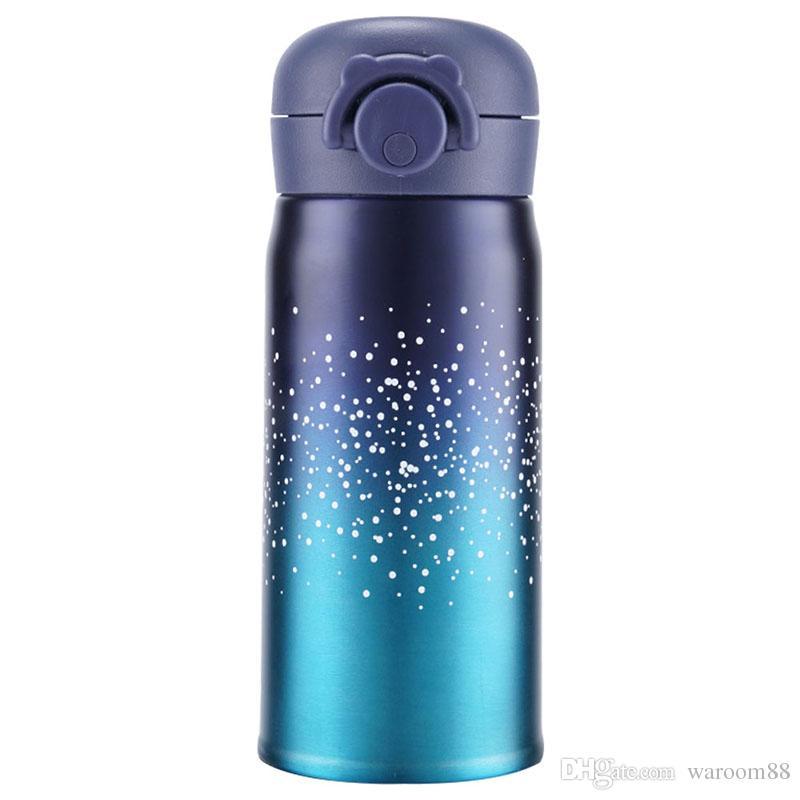 Bounce Lid Student Tea Mug Portable School Student Gift Tea Mug Thermal Bottle Stainless Steel Starry Sky Vacuum Thermal cup
