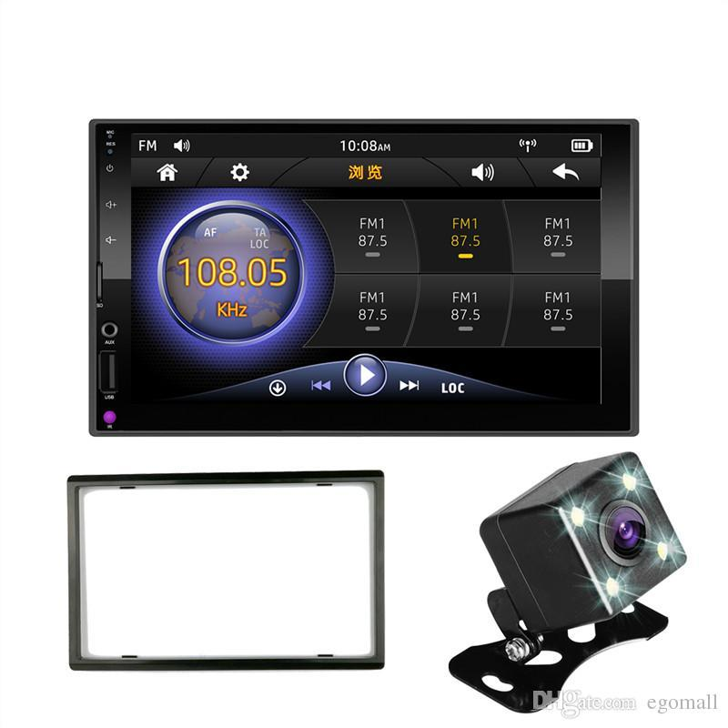 "2 DIN car radio Mirror Link (for Android phones) capacitive touch screen 7""MP5 Bluetooth USB TF FM Camera Multimedia Player 2din"