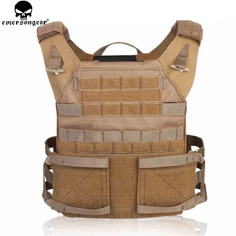 Emerson LBT-6094K Molle Tactical Vest Plate Carrier W// Magazine Mag Pouches CB