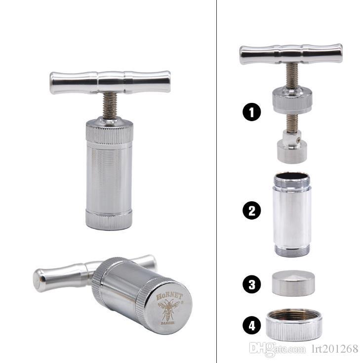 Mini-outil de tabac portatif compact de tuyau de compresseur de tuyau d'acier inoxydable de tuyau de compresseur