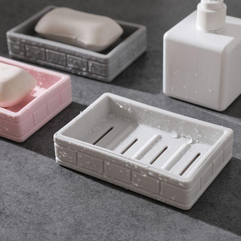 1Pc New Plastic Soap Dish Storage Boxs Double Layer Container Case Bathroom Home